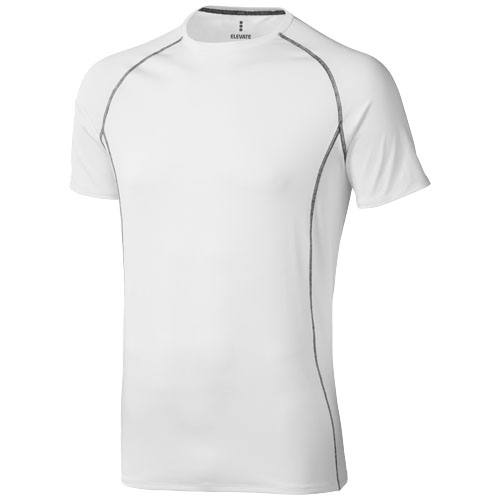 Kingston short sleeve men's cool fit t-shirt in white-solid