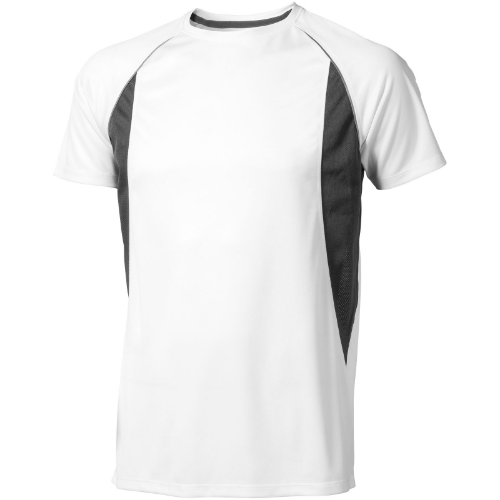 Quebec short sleeve men's cool fit t-shirt in white-solid-and-anthracite