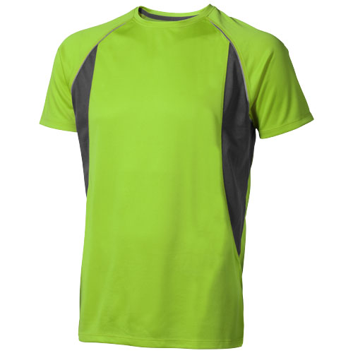 Quebec short sleeve men's cool fit t-shirt in apple-green-and-anthracite