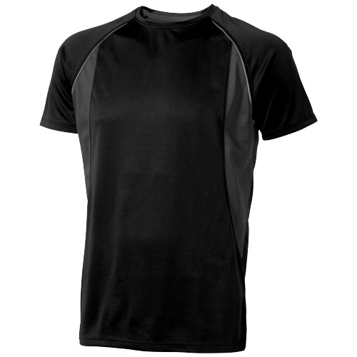 Quebec short sleeve men's cool fit t-shirt in black-solid-and-anthracite