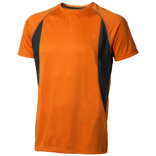 Quebec short sleeve men's cool fit t-shirt in orange-and-anthracite