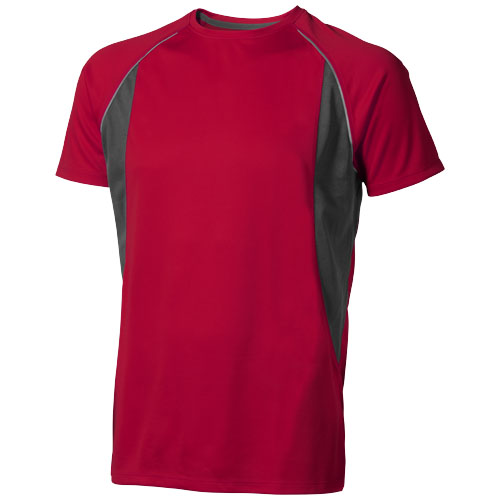 Quebec short sleeve men's cool fit t-shirt in red-and-anthracite