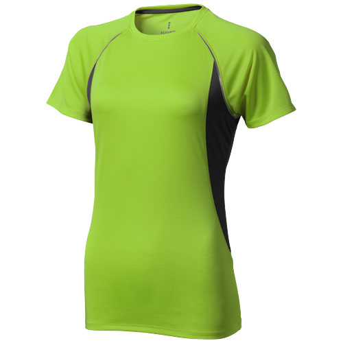 Quebec short sleeve women's cool fit t-shirt in apple-green-and-anthracite