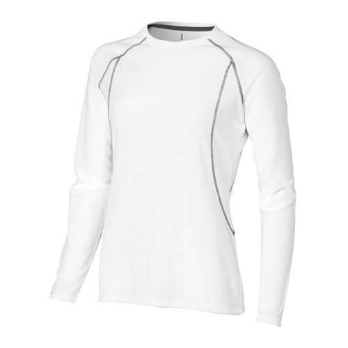 Whistler long sleeve T-shirt in white-solid