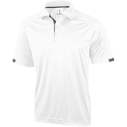 Kiso short sleeve men's cool fit polo in white-solid