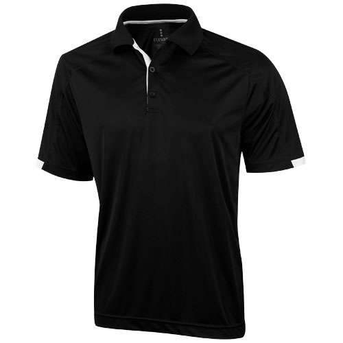 Kiso short sleeve men's cool fit polo in black-solid