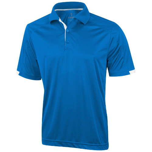 Kiso short sleeve men's cool fit polo in blue