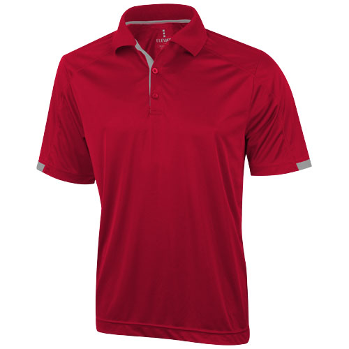 Kiso short sleeve men's cool fit polo in red