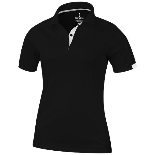 Kiso short sleeve women's cool fit polo in black-solid
