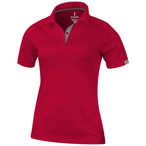 Kiso short sleeve women's cool fit polo in red