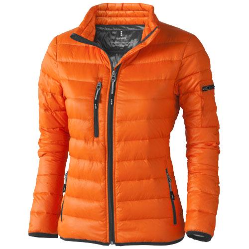 Scotia light down ladies jacket in orange