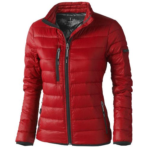 Scotia light down ladies jacket in red