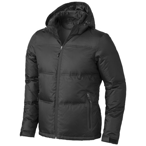 Caledon down Jacket in black-solid