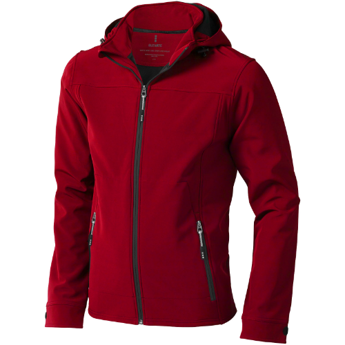 Langley softshell jacket in red