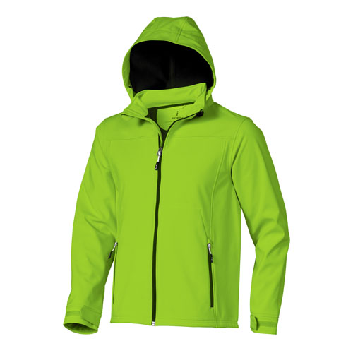 Langley softshell jacket in apple-green