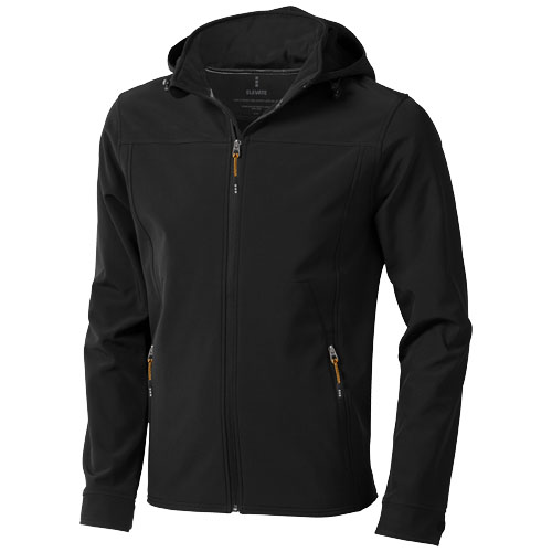 Langley softshell jacket in black-solid