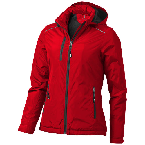 Smithers fleece lined ladies Jacket in red