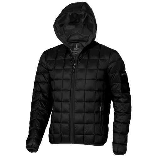 Kanata light down Jacket in black-solid
