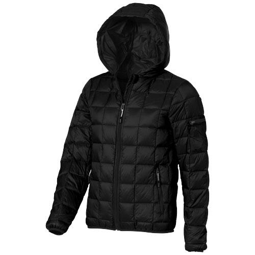 Kanata light down ladies Jacket in black-solid