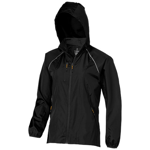 Nelson packable ladies Jacket in black-solid