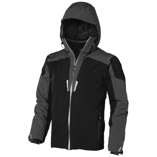 Ozark insulated jacket in black-solid-and-grey