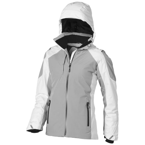 Ozark insulated ladies Jacket in white-solid-and-grey