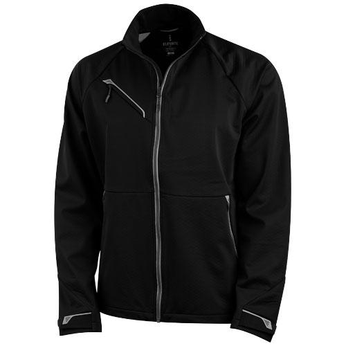 Kaputar softshell jacket in black-solid