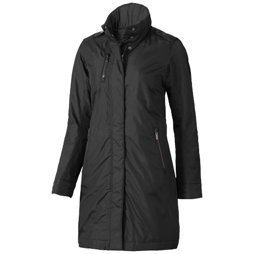 Lexington insulated ladies jacket in black-solid