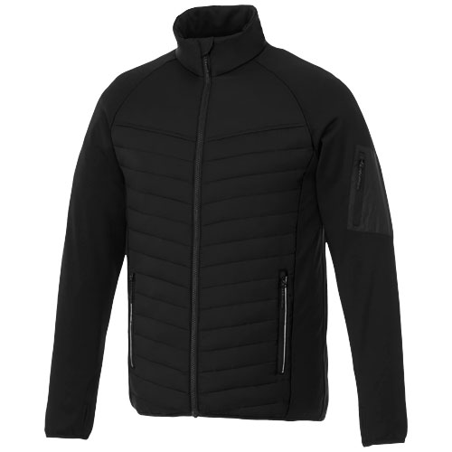 Banff hybrid insulated jacket in black-solid
