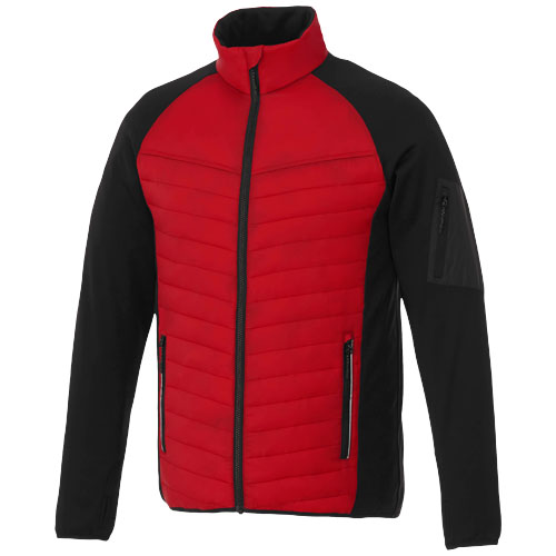 Banff hybrid insulated jacket in red