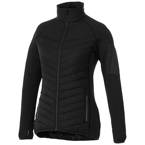 Banff hybrid insulated ladies jacket in black-solid