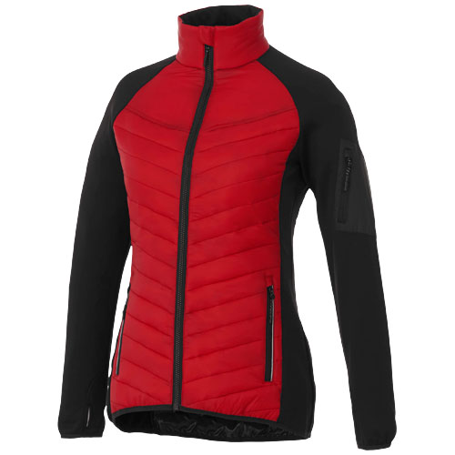 Banff hybrid insulated ladies jacket in red