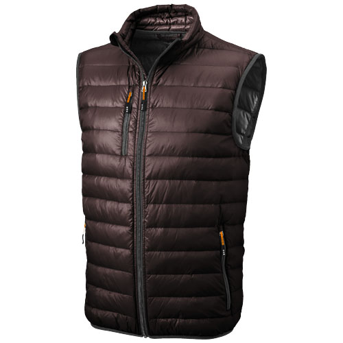 Fairview light down Bodywarmer in chocolate-brown