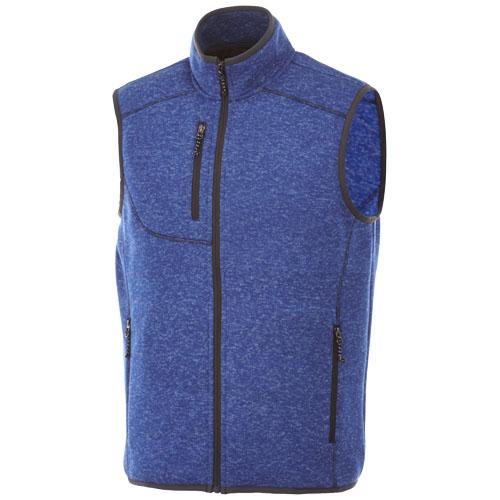Fontaine knit bodywarmer in heather-blue
