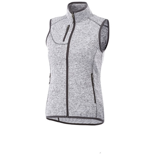 Fontaine ladies knit bodywarmer in heather-grey