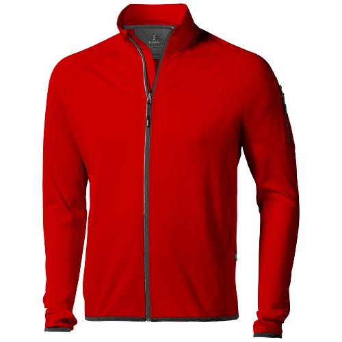 Mani power fleece full zip Jacket in red