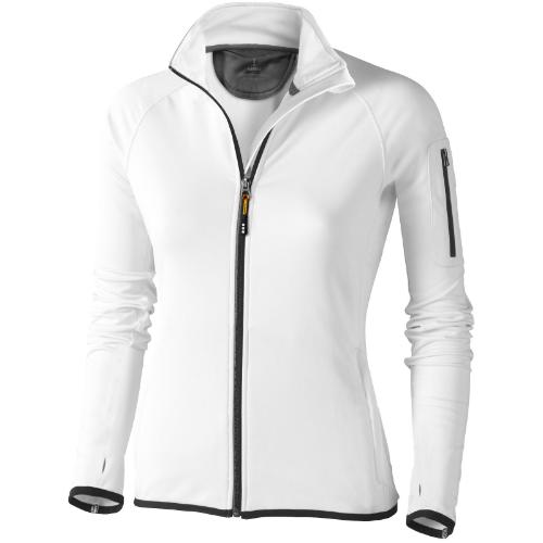 Mani power fleece full zip ladies Jacket in white-solid