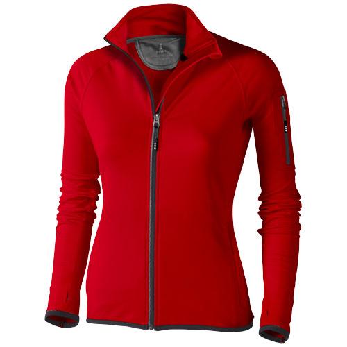 Mani power fleece full zip ladies Jacket in red