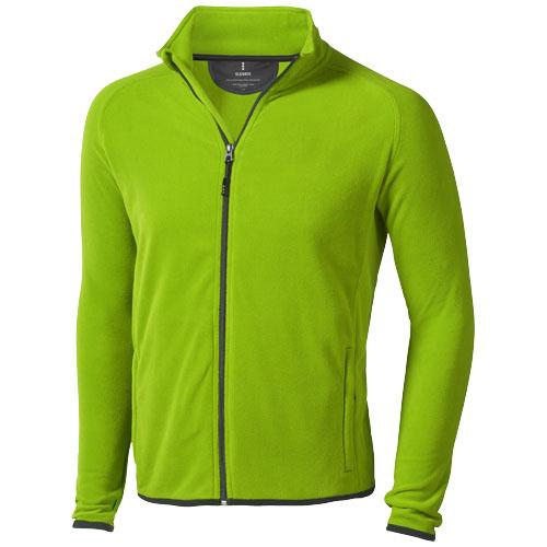 Brossard micro fleece full zip Jacket in apple-green