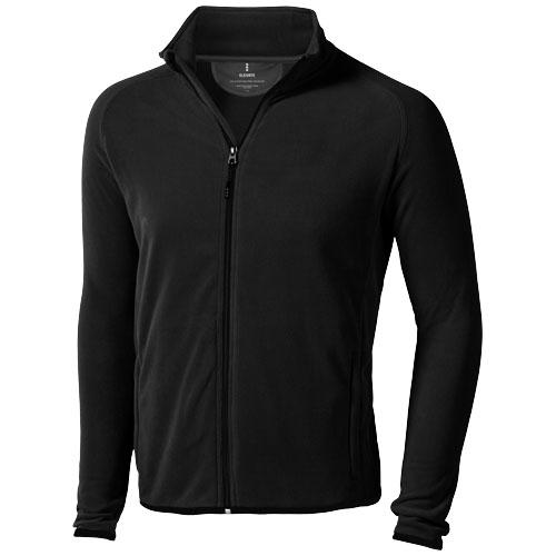 Brossard micro fleece full zip Jacket in black-solid