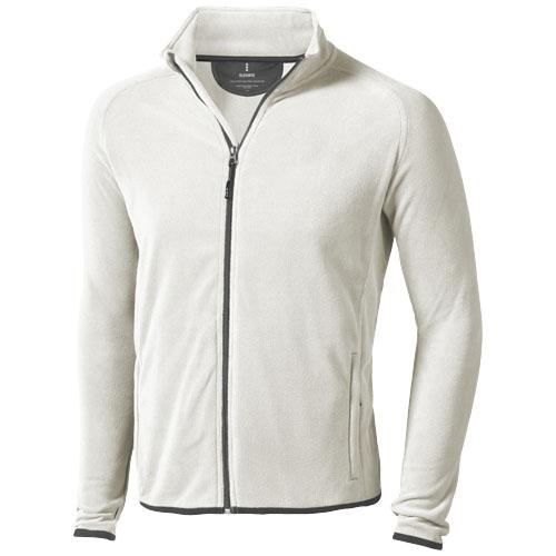 Brossard micro fleece full zip Jacket in light-grey