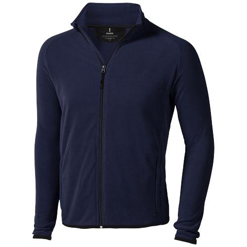 Brossard micro fleece full zip Jacket in navy