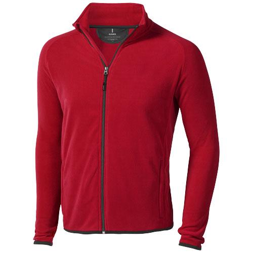 Brossard micro fleece full zip Jacket in red