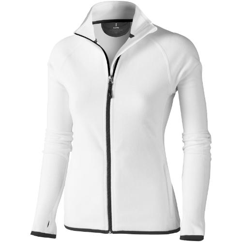 Brossard micro fleece full zip ladies Jacket in white-solid