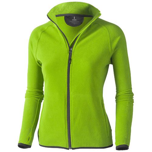 Brossard micro fleece full zip ladies Jacket in apple-green