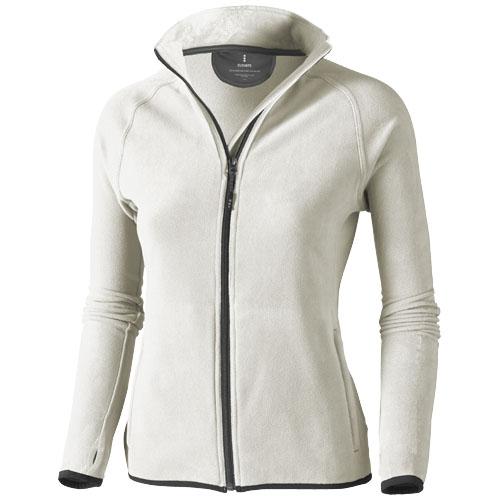 Brossard micro fleece full zip ladies Jacket in light-grey