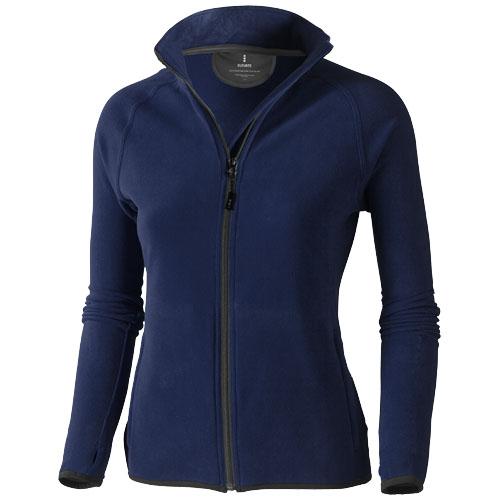 Brossard micro fleece full zip ladies Jacket in navy