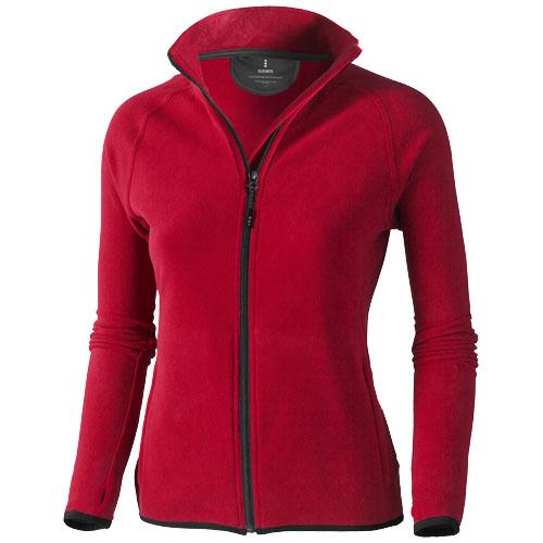 Brossard micro fleece full zip ladies Jacket in red