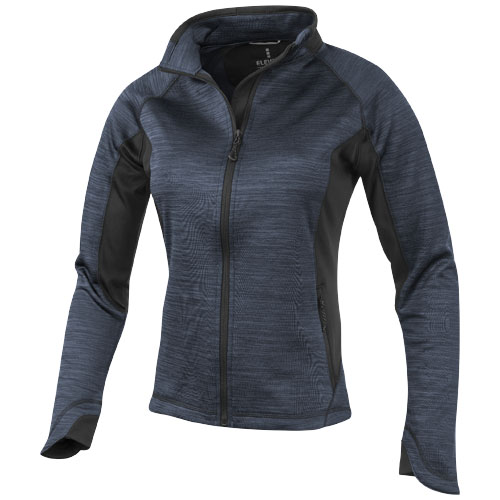 Richmond ladies knit jacket in heather-charcoal