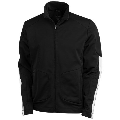 Maple knit Jacket in black-solid